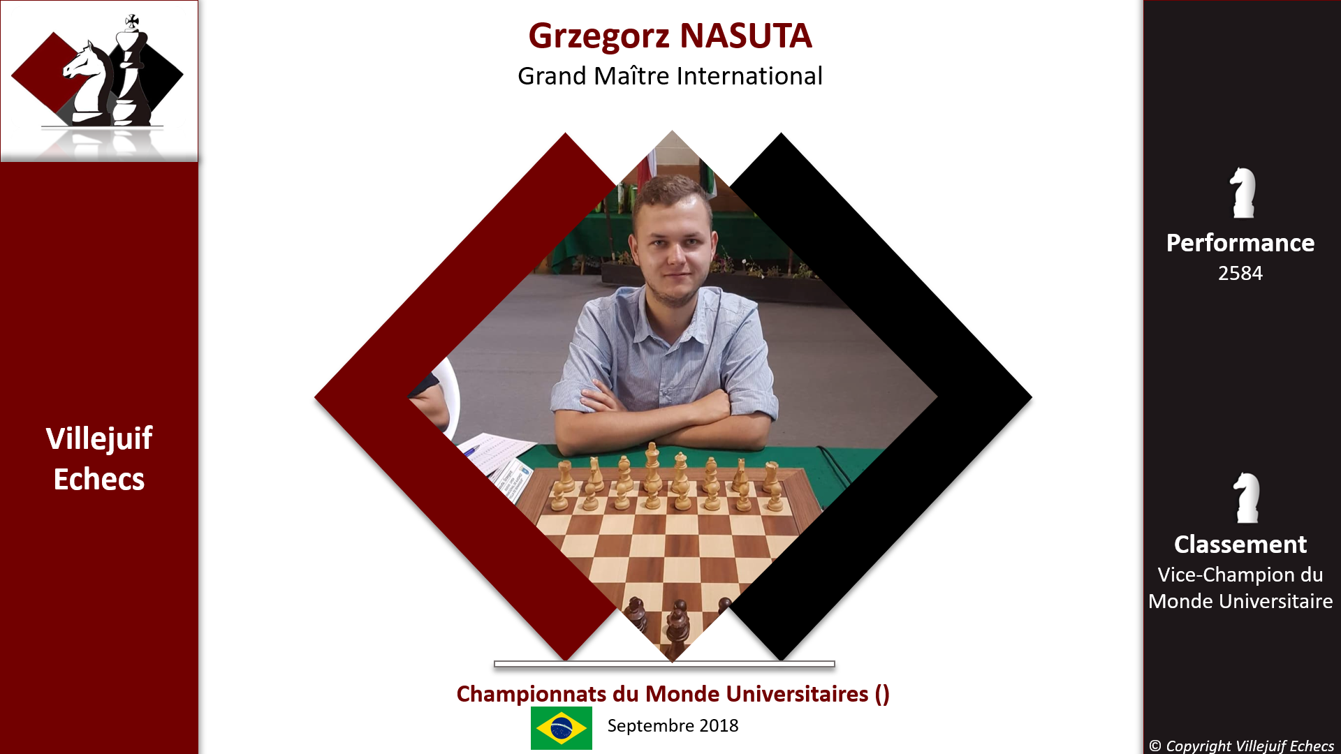 Grzegorz Vice-Champion du Monde Universitaire!